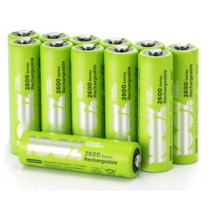 AA Rechargeable 2600 Series 100%PeakPower NiMH Batteries - Pack of 12